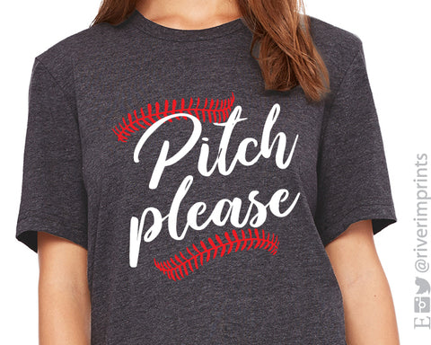 PITCH PLEASE Graphic Triblend Tee by River Imprints