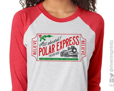 POLAR EXPRESS Triblend Sublimation Raglan