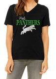 POLO PANTHERS Glittery V-neck Cotton Tee