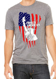 PROUD AMERICAN FLAG Graphic Triblend T-shirt