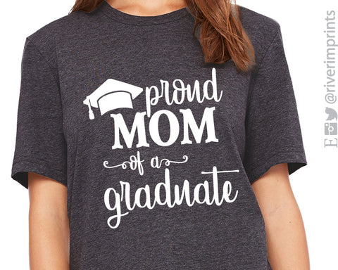 PROUD MOM OF A GRADUATE Graphic Triblend Tee by River Imprints