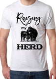 RAISING MY HERD Triblend Sublimation Tee