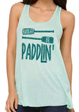 RATHER BE PADDLIN' Glittery Flowy Tank