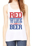 RED WINE AND BEER Graphic Flowy Tank