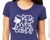 RED WINE & BLUE Graphic Triblend Tee