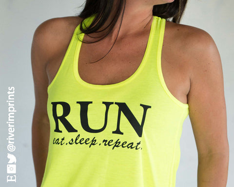 RUN - EAT, SLEEP, REPEAT Flowy Tank