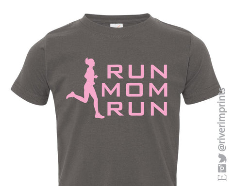 RUN MOM RUN Youth Cotton Tee River Imprints