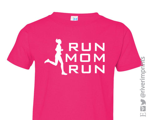 RUN MOM RUN Toddler Cotton Tee River Imprints