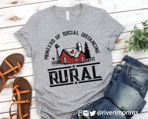 RURAL Pioneers of Social Distancing Blend Tee Shirt