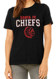 SANTA FE CHIEFS Glittery Chief School Mascot Cotton Tee Shirt