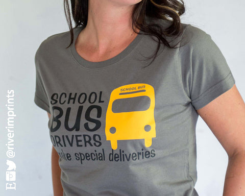 SCHOOL BUS DRIVER'S MAKE SPECIAL DELIVERIES Graphic Cotton Tee River Imprints
