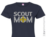 Glitter BOY SCOUT MOM Womens Tee Shirt