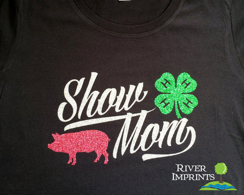 SALE - SHOW MOM Graphic Triblend Tee Shirt