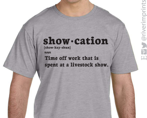 SHOW-CATION triblend graphic t-shirt
