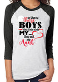 So There's These Boys - Baseball Aunt Triblend Raglan