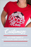 SOCCER MOM Glittery Cotton Tee
