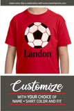 SOCCER BALL Personalized Toddler Cotton Tee