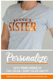 SOCCER SISTER Shiny Cotton Tee