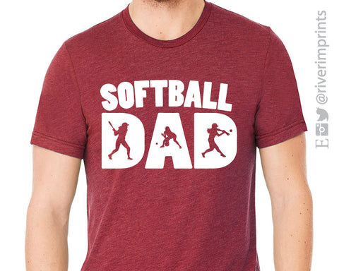 SOFTBALL DAD Graphic Triblend Tee by River Imprints
