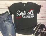 SOFTBALL GRANDMA Glittery Cotton Tee