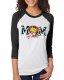 SOFTBALL MOM Triblend Sublimation Raglan Tee by River Imprints