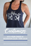 SOFTBALL MOM Shiny Flowy Tank