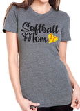 SOFTBALL MOM Triblend Graphic T-shirt by River Imprints