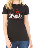 SPARTAN BASKETBALL Glittery Cotton Tee