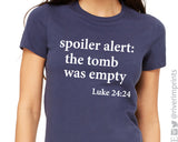 SPOILER ALERT: THE TOMB WAS EMPTY Graphic Triblend Tee by River Imprints