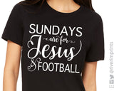 SUNDAYS ARE FOR JESUS AND FOOTBALL Graphic Triblend Tee by River Imprints
