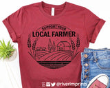 SUPPORT YOUR LOCAL FARMER Blend Tee Shirt