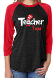 TEACHER I AM Suess Triblend Raglan Tee by River Imprints