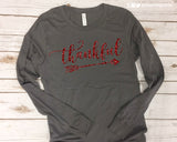 THANKFUL with Arrow Glittery Long Sleeve Triblend Tee