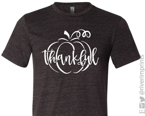 THANKFUL PUMPKIN Graphic Triblend Tee