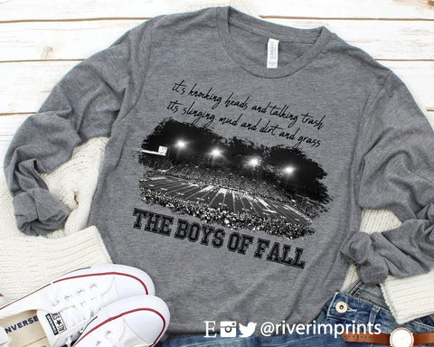 THE BOYS OF FALL Graphic Blend Long Sleeve Tee Shirt