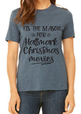 TIS THE SEASON FOR HALLMARK CHRISTMAS MOVIES Graphic Triblend T-shirt by River Imprints