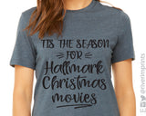 TIS THE SEASON FOR HALLMARK CHRISTMAS MOVIES Graphic Triblend Tee by River Imprints