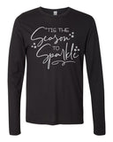 TIS THE SEASON TO SPARKLE Vintage Jersey Long Sleeve Tee - READY TO SHIP