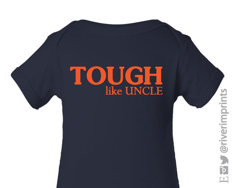 Baby TOUGH LIKE UNCLE boy short sleeve bodysuit/creeper