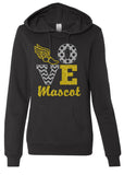 LOVE TRACK & FIELD Personalized Glittery Midweight Hooded Sweatshirt