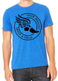 TRACK & FIELD Personalized Triblend T-shirts by River Imprints