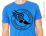 TRACK & FIELD Personalized Triblend Tee by River Imprints