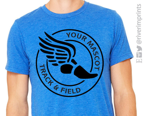 TRACK & FIELD Circle Triblend T-shirt