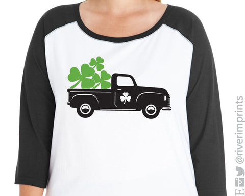 Shamrock Truck Curvy Collection Women's Raglan