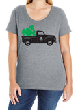 Shamrock Truck Curvy Collection Women's Scoopneck Tee
