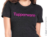 TUPPERWARE Glittery Triblend Tee by River Imprints