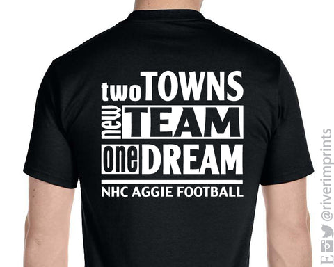 Add NHC AGGIE Slogan to Back of Shirt