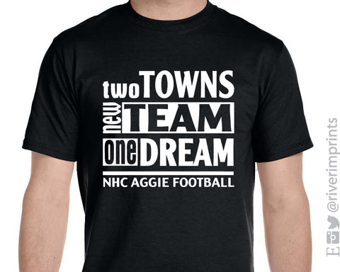 NHC AGGIES Slogan Graphic Triblend Tee by River Imprints