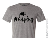 HASHTAG UNPLUG Graphic Triblend Tee by River Imprints