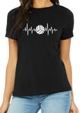 VOLLEYBALL HEARTBEAT Graphic Triblend T-shirt by River Imprints